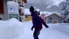 ویدئویی زیبا و هیجانانگیز از اسنو برد در سوئیس