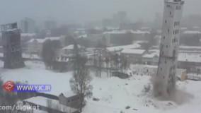 فرو ریختن یک برج در روسیه