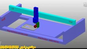 نمونه تهیه پست و machine tools  دستگاه سی ان سی پنج محور سنگ