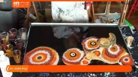 نقاشی آبستره _ چگونگی ساخت تابلو زیبا با رزین اپوکسی