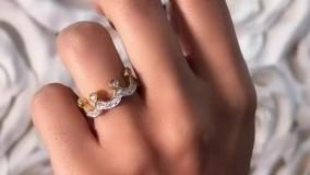 تاج پادشاهی الماس نشان را در دستان خود کنید : انگشتر تاج دوحلقه
