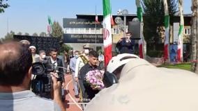 مراسم اهدای مدال طلای گرایی به شهید گمنام