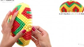 اوریگامی سه بعدی-اوریگامی- آـموزش اوریگامی سه بعدی بالون قسمت اول