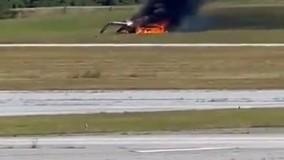 سقوط مرگبار هواپیما حین برخاستن از فرودگاه