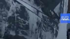 برف روبی دلهره آور پشت بام های بلند و لغرنده استکهلم