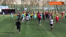 کتک کاری و چاقوکشی در فوتبال تهران