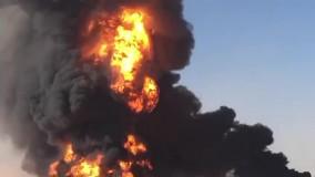 آتش سوزی گسترده در مرز افغانستان با ایران (۲)