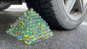 خرد کردن چیزهای ترد و نرم با ماشین : ماشین در مقابل تیله ها