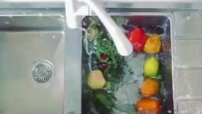 شیرآشپزخانه سفید چراغدار مدل zoe برند kwc