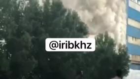 آتش سوزی در کارخانه کشت و صنعت نیشکر هفت تپه