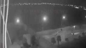 فیلم منتشره از انفجار سهموشک در  داخل فرودگاه اربیل