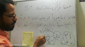 حفظ سریع قرآن به روش کدگذاری(کدینگ)جزء۱صفحه۲۱بخش۱