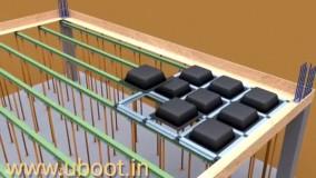 انیمیشن نحوه اجرای سقف وافل توسط شرکت گنبد فیروزه