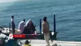 تفحص پیکر شهید مدافع امنیت در آبهای جنوب