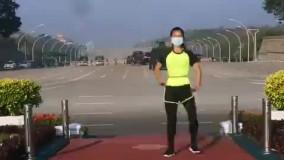 ورزش صبحگاهی در تلویزیون میانمار با چاشنی کودتا!