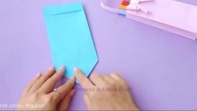 آموزش ساخت جعبه کاغذی زیبا برای مداد رنگی ها