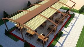 حقانی 09380039391-سقف بازشو رستوران-سایبان برقی کافی شاپ