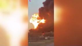 انفجارهای هولناک در اثر تصادف قطار با کامیون