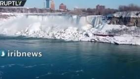 آبشار بزرگ نیاگارا از سرما یخ زد