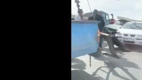 تصادف زنجیره ای در تبریز ؛ همه ماشین ها له شدند
