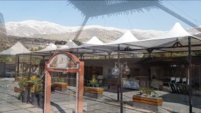 حقانی 09380039391-سقف کششی کافه رستوران عربی- فروش سقف خیمه ای حیاط رستوران
