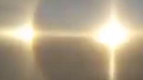 ظهور همزمان سه خورشید در آسمان