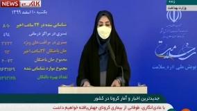 آخرین آمار کرونا در ایران، ۱۰ اسفند ۹۹: فوت ۹۳ نفر در شبانه روز گذشته