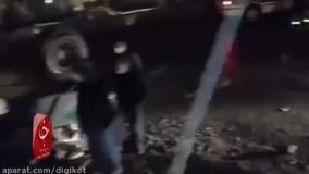 تصادف مرگبار پژو ۲۰۶ با کامیون در بزرگراه شهید بابایی