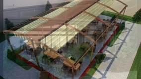 زیباترین سقف متحرک رستوران-سایبان برقی کافه رستوران