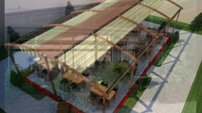 حقانی 09380039391-زیباترین سقف متحرک رستوران-سایبان برقی کافه رستوران