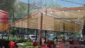 حقانی 09380039391-سقف متحرک کافی شاپ تالار-سایبان برقی فودکورت رستوران