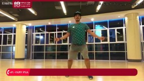 آموزش حرکات ورزشی زومبا استپ برای لاغری شکم