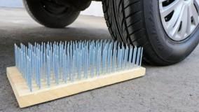 خرد کردن چیزهای ترد و نرم با ماشین : ۲۵۰ پیچ در مقابل ماشین