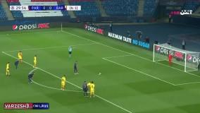 خلاصه بازی پاری سن ژرمن 1 - بارسلونا 1