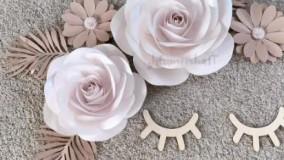 سفارش گل فومی بزرگ و گل کاغذی دکوراتیو