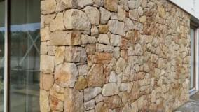 دیوار چینی و محوطه سازی با سنگ لاشه