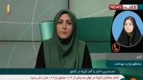 آخرین آمار کرونا در ایران، ۲۲ اسفند ۹۹: فوت ۵۳ نفر در شبانه روز گذشته