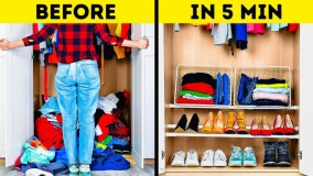 ترفندهای جالب و هوشمندانه برای خانه داری : مرتب کردن خانه