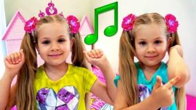 دیانا و روما ؛  ترانه ورزشی برای کودکان با دیانا ؛ زانوها و انگشتان پا