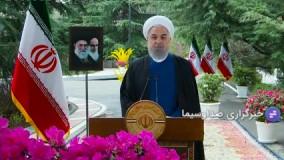 روحانی آغاز سال 1400 را به مردم ایران تبریک گفت