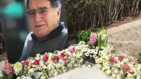 سال تحویل خانواده شجریان در نوروز ۱۴۰۰ در مزار استاد محمدرضا شجریان