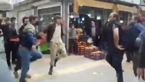 رقصیدن و شادی مردم مشهد