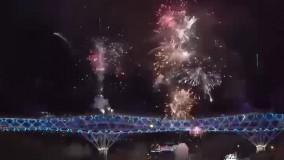 نورافشانی جذاب «پل طبیعت» به مناسبت سال نو