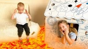 لاراو داداشی ؛ گدازه ها در اتاق - بازی برای کودکان