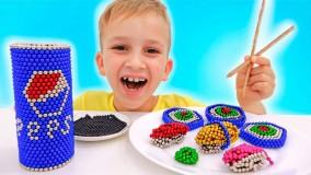 ولاد و نیکی ؛ بازی و کاردستی با توپ های مغناطیسی ؛ داستانهای خنده دار با اسباب بازی