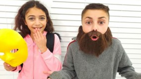 هایدی و  زیدان ؛ تغییر شکل ؛ بیا بریم مدرسه ! ویدیوی خنده دار برای بچه ها