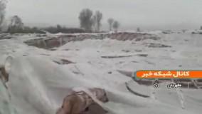 خسارت طوفان به گلخانه های فلاورجان