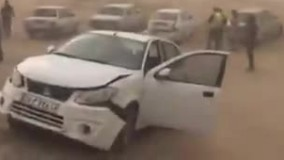 تصادف چندین خودرو در جاده شیراز - اصفهان