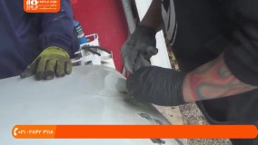 صافکاری خودرو _ آموزش جوشكاري فولاد نرم با جوش گاز