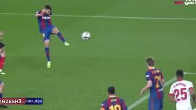 خلاصه بازی بارسلونا ۳ - سویا ۰